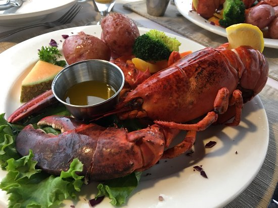 Montague, Canada: Lobster with potatoes and fresh vegetables