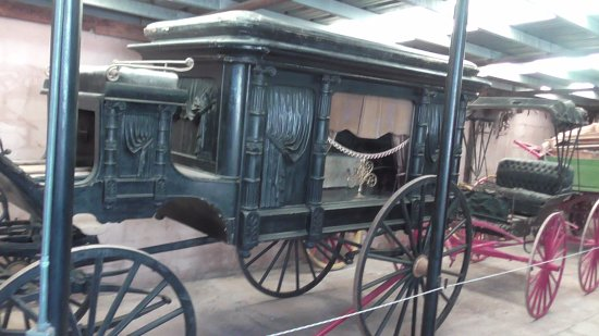 Fort Sumner, NM: One of the old horse drawn vehicles in the museum
