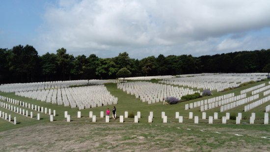 Etaples, France: A small section of the almost 11,000 graves