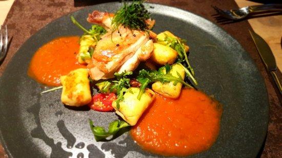 Bramberg am Wildkogel, Austria: Roast chicken with gnocchi
