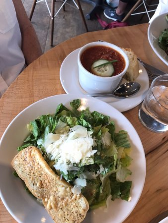 Minnetonka, MN: Gazpacho and Caesar Salad