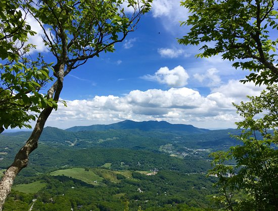 Beech Mountain, NC: View from top of the mountain