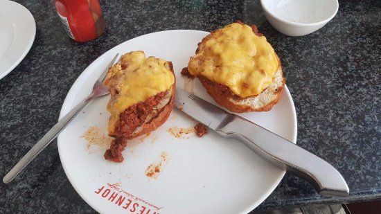 Lanseria, South Africa: vetkoek and mince