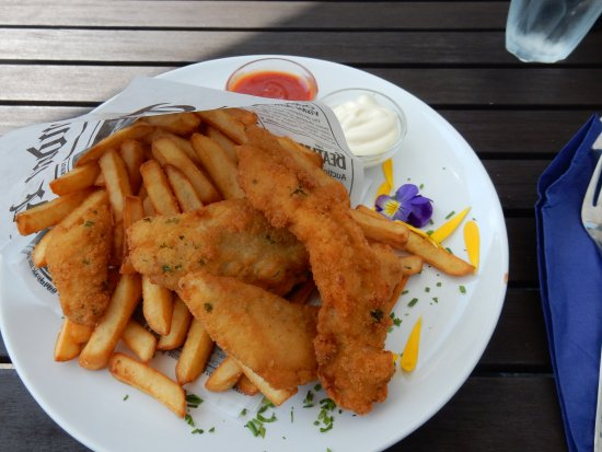 Billnas, Finland: Fish and chips