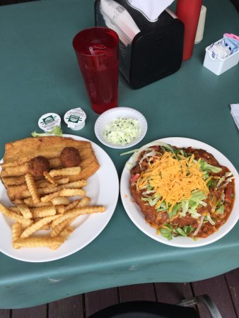 Paul's Family Restaurant : Mountain Trout and Indian Taco.