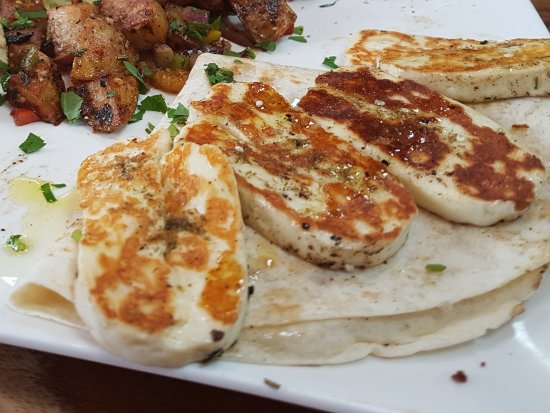 Otley, UK: Haloumi