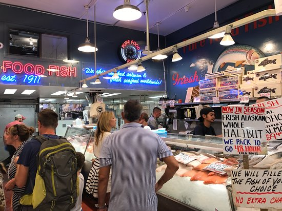 Pure food fish market seattle wa updated 2018 top tips for Fish market hours