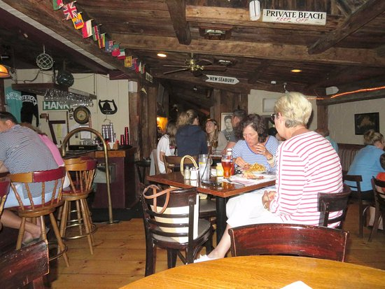 Quarterdeck Restaurant: Mrs Too at Our High Top Table