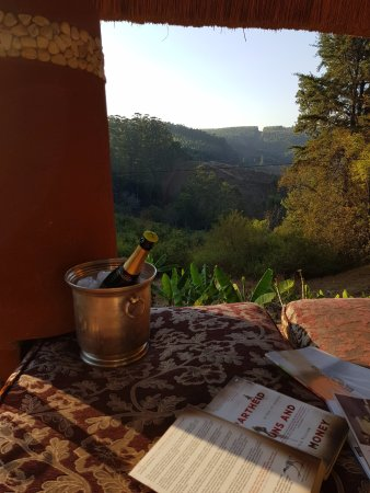 Sabie, South Africa: Amber Moon view from private day bed next to pool