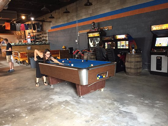 Amazing Outdoor Area Picture Of Southern Prohibition Brewing - Old school pool table
