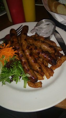 Nyk's Bistro Pub: the sausages i rave about