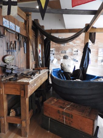 Goole, UK: Museum item boat builder workshop