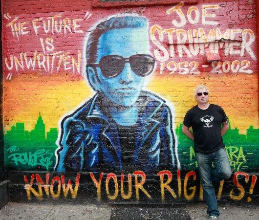 Rock Junket: Strummer mural