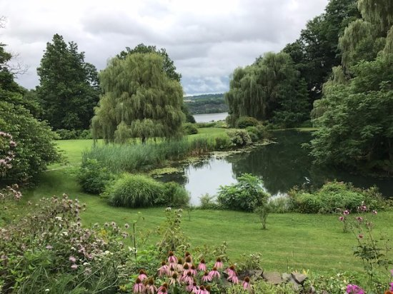 Milton, NY: A view of the Hudson River from the grounds of the inn.