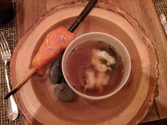 "Woodinville, WA: Course 5: ""Salmon head soup"""