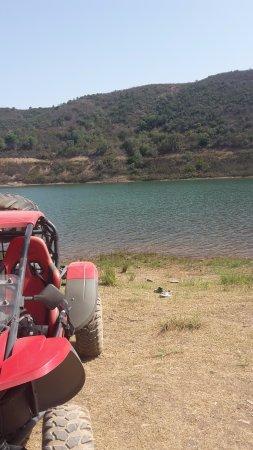 Sao Bartolomeu de Messines, Portugal: Overlooking the Morning Lake Stop