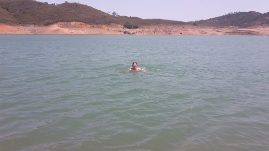 Sao Bartolomeu de Messines, Portugal: Swimming in the Lake in the Afternoon