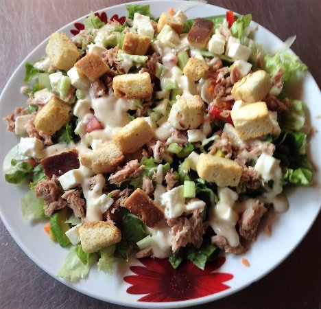 La Virgen, Costa Rica: Just perfect for your diet, Tuna salad..