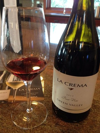 Windsor, CA: 2013 Fog Veil Pinot Noir at La Crema Estate at Saralee's Vineyard.