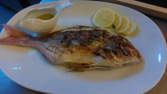 Agios Georgios, Greece: Fresh daily  fish!! Grilled and soup...