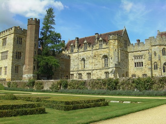 Penshurst Place - the house entrance is to the bottom right
