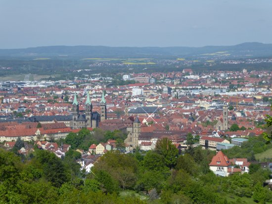 View over Bamberg from Altenburg