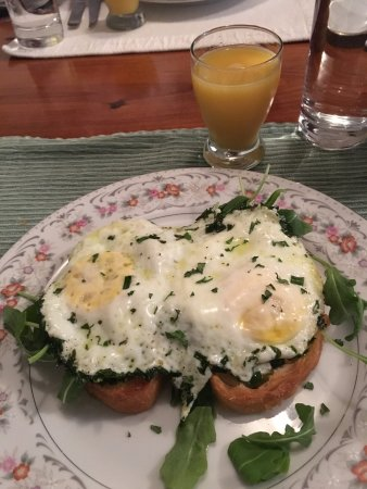 Sperryville, VA: Herb eggs with prosciutto