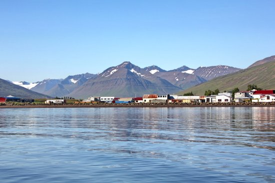 Dalvik, Iceland: View of Town from Ship