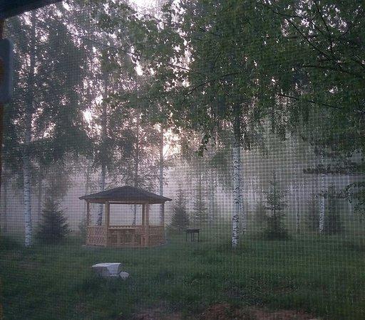 Yaroslavl Oblast, Rússia: Вид из окна на туманный рассвет