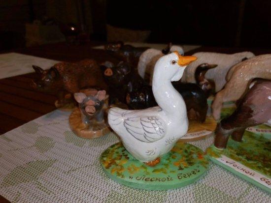 Yaroslavl Oblast, Rússia: Сувениры - статуэтки зверюшек из агрозоопарка
