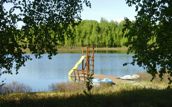 Willow, AK: Dock with Paddle Boats