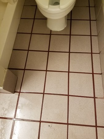 Pevely, MO: This is the flooding bathroom floor.