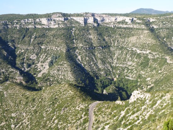 Photo of Scenic Lookout Cirque de Navacelles at Between Hérault Department And Gard Department, Saint-Maurice-Navacelles, France