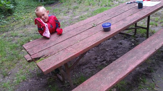 Highland, Ουισκόνσιν: Not able to use the picnic table. No way to clean it. Mossy!