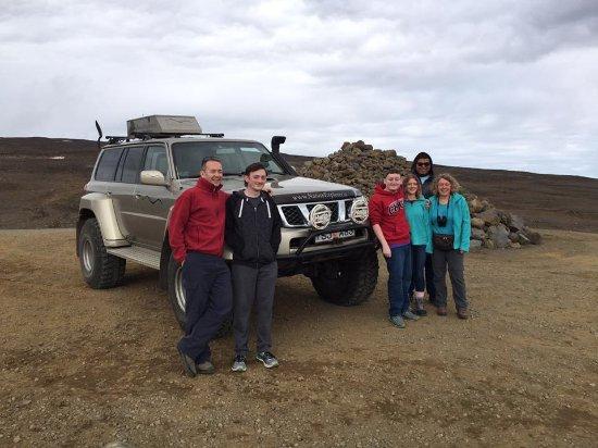 Nature Explorer Tours : Super Jeep just before heading onto Langjökull Glacier