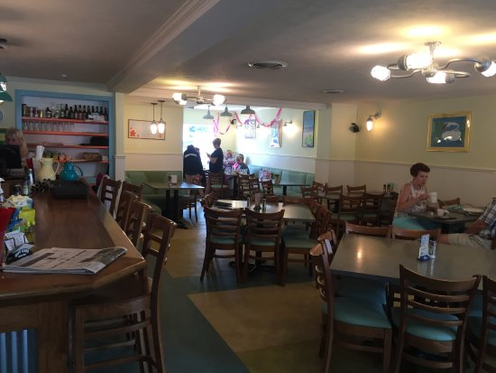 Frankfort, MI: Inside, the view from our table
