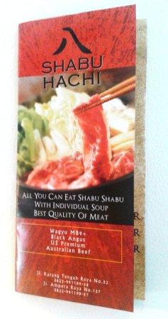 Shabu Hachiの宣伝です。