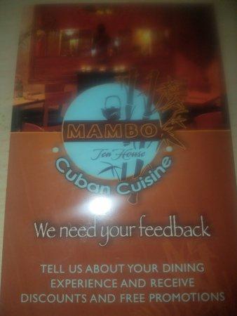 Rutherford, Нью-Джерси: MAMBO TEA HOUSE CUBAN CUISINE