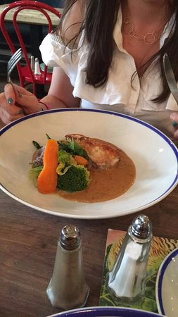 Made In Belfast: Friend's pan roasted chicken with bacon sauce main course..