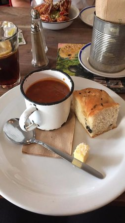 Made In Belfast: Soup special, tomato and basil with foccacia bread!