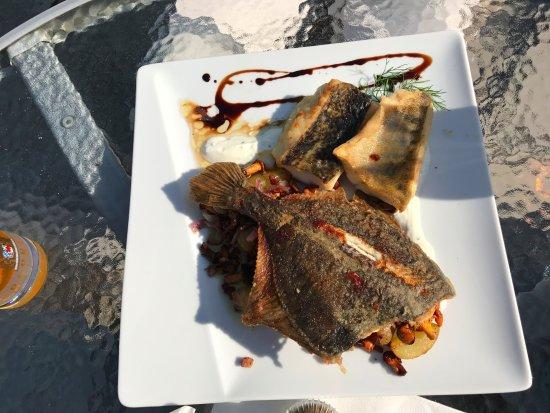 Wendisch Rietz, Germania: 招待者ご推奨の魚三種盛り