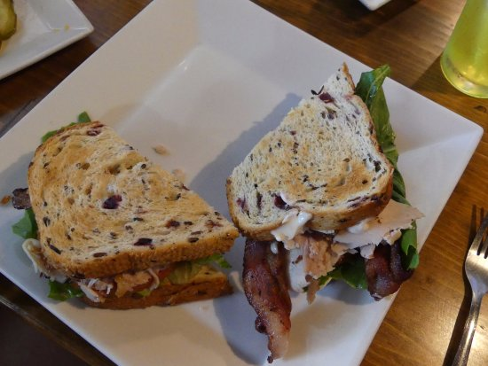 Silver Bay, MN: turkey club on cranberry bread
