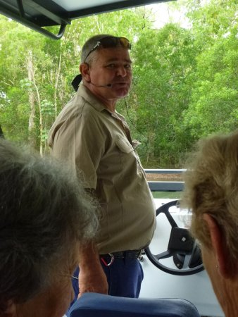 Palm Cove, Australia: The driver of the boat I was on. Very informative.