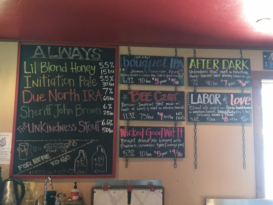 Beer List Picture Of Bonsai Brewing Project Whitefish Tripadvisor