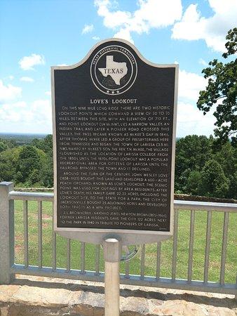 Jacksonville, TX: road side plaque