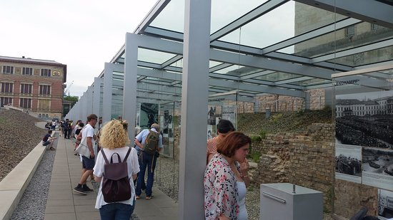 Topographie des Terrors : Topography of Terror Museum outside exhibits