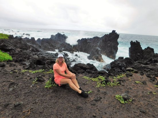 Laupahoehoe, Hawaï: beautiful coastline with lots of waves