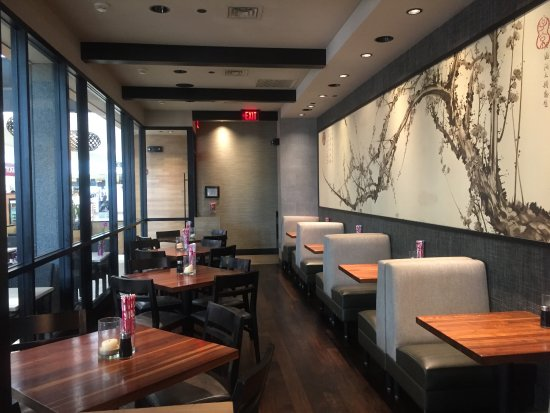 Huntington Station, NY: inside restaurant with beautiful wall decor