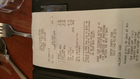 Ruby tuesday las vegas coupons