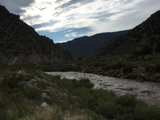 Salida, CO: Mountain goat herd and river walk from five points campsite